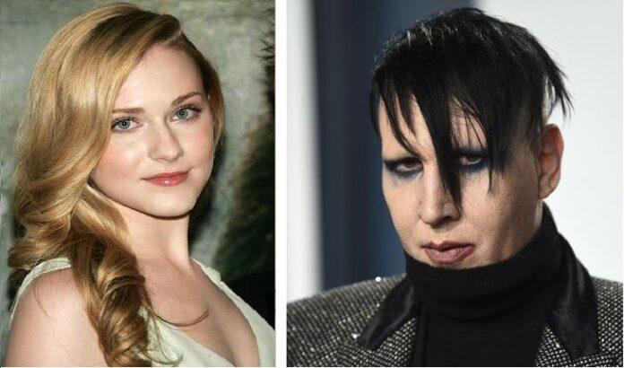 Evan Rachel Wood with Marilyn Manson